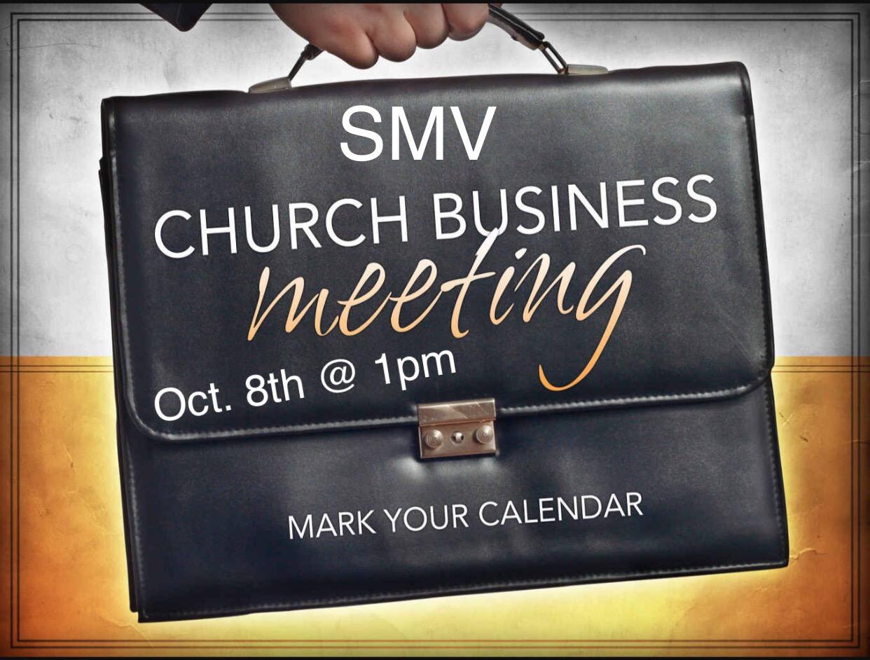 SMV Church Business Mtg.